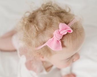 Navy and Red Bows itty bitty bows Polka Dot Bows Baby Headband Set Baby Headband Bows Baby Headbands Set Pink Nylon Headbands