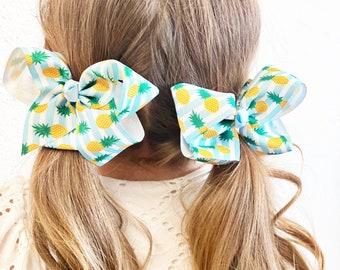 Girl/'s Pineapple hair bows or headbands