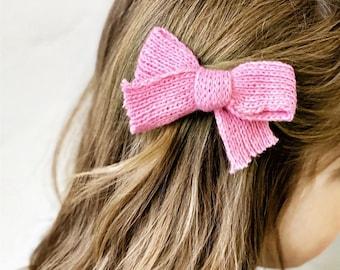 headbands hair clips neutral bows Waffle knit bows