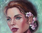 Custom Oil Painting Portrait From Photo by Order A Selected Background Unique work