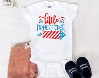 36cdce9a8 Little Firecracker Baby Onesie®, First 4th of July Baby Bodysuit, Fourth of July  Onesie®, Independence Day Clothes, Veteran Day Outfit, USA!