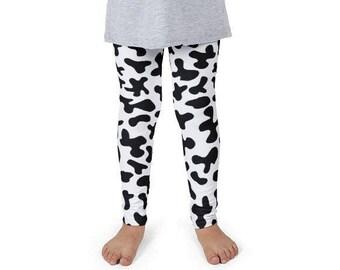 0b87b4cf4bb601 Cow Print girl leggings, Barnyard farm leggings, Girl Jessie Costume,  birthday gift for girls, Animal Print girl pants, Farm birthday outfit