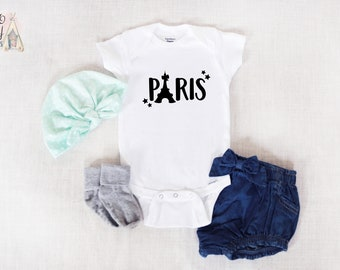 7a04748b Paris Baby Onesie®, Travel Baby Outfit, Eiffel Tower Baby Clothes, Travel  French Baby Girl Clothes, French Baby Onesie®, Girl Baby Outfit