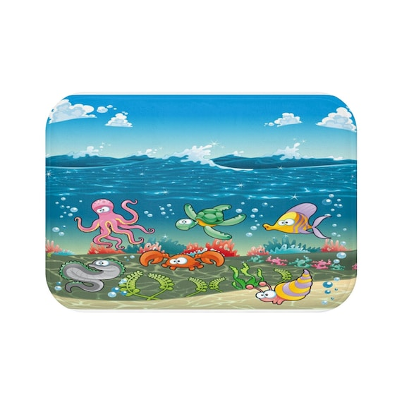 Friends Of The Sea Bath Mat Under The Sea Bathroom Decor Sea