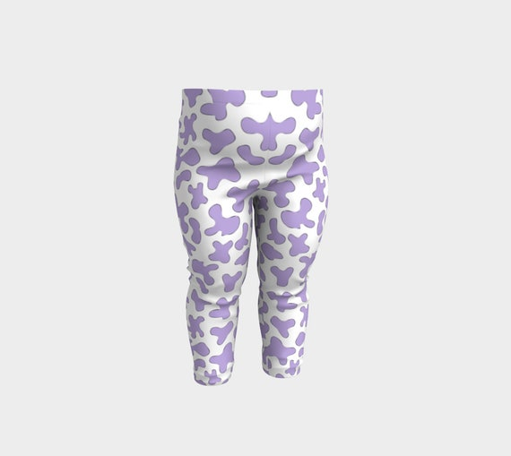 c7a6b2556 Lilac Cow Baby Leggings Birthday Gift Baby Girls Pants | Etsy