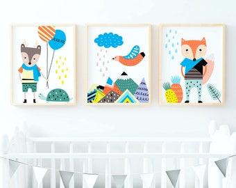 Scandinavian Prints, Scandinavian Art, Nursery Wall Art, Kids Room Art,  Nursery Decor, Scandi Kids, Scandinavian Nursery, Kids Room Decor