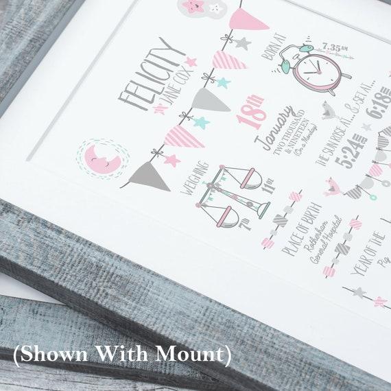 My First Year Newborn Pink Photo Frame 24x29CM Baby Shower Gift 13 Photo Hold
