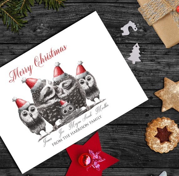 Custom Christmas Cards.Pack Of Personalised Christmas Cards Custom Christmas Cards Family Christmas Cards Family Portrait Christmas Cards Holiday Family Cards