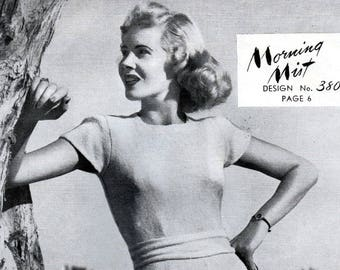 PDF book of vintage 1940s women's knitting patterns, 10 women's dresses or suits, knitted separates, adjustable sizing instructions