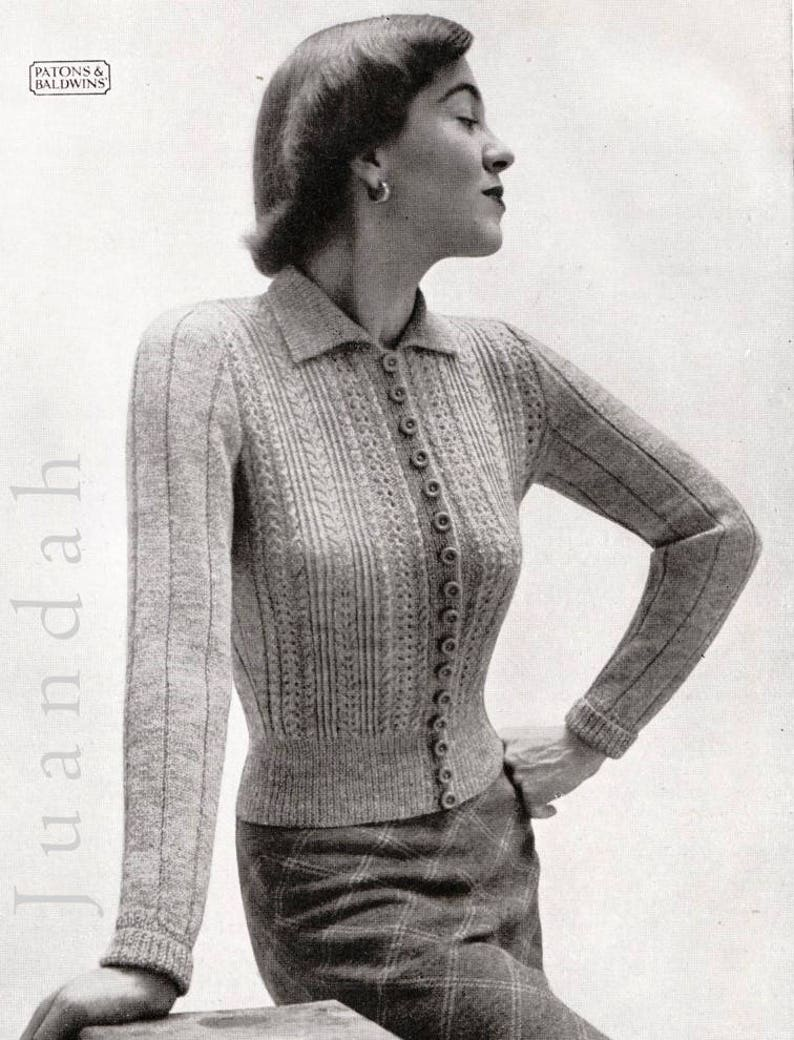 Rare vintage knitting patterns 1940s style bombshell   Etsy