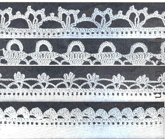 Vintage Crochet Edgings Pattern Book 1940s Pdf Patterns 110 Etsy