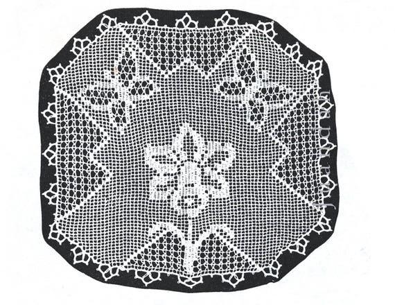 1930s Crochet Book Rare Patterns For Doyleys 19 Pdf Patterns Tray