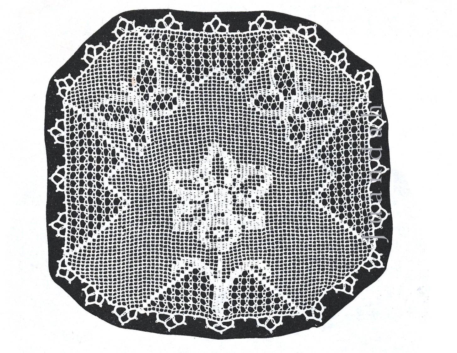 1930s crochet book, rare patterns for doyleys, 19 PDF patterns, tray ...