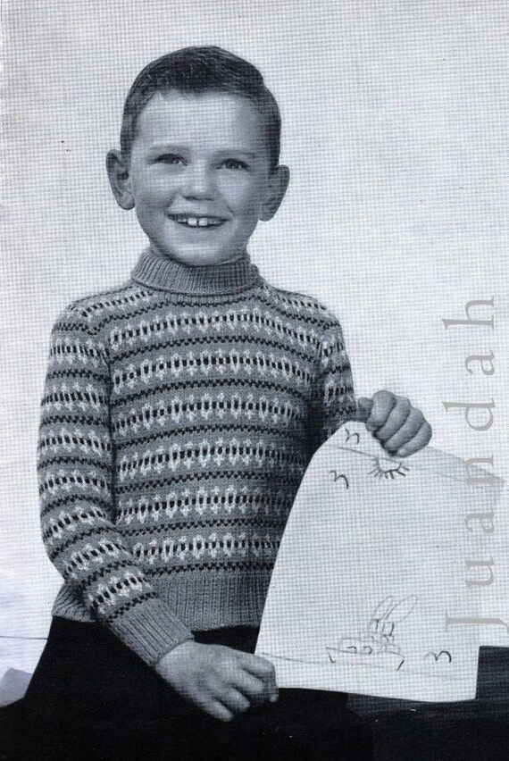 Boys Knitting Patterns Entire Pdf Book Of 1950s Etsy