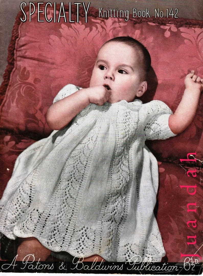 Book of rare vintage baby knits 11 PDF patterns 1940s image 0