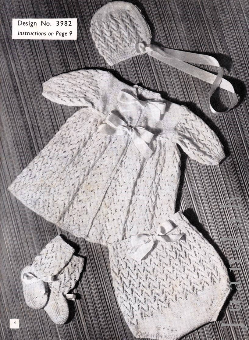 Family knitting patterns, 18 patterns, lingerie, baby knits, 1940s ...