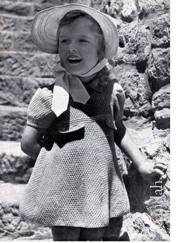 PDF book of 12 kids' knitting patterns, 1940s knits, free shipping, instant  download, cardigans, jumpers, knitted dresses