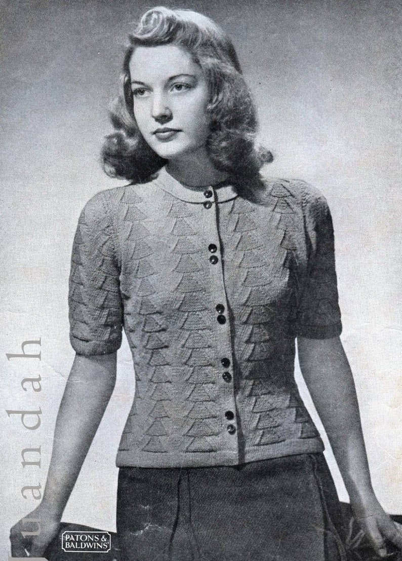 Vintage knitting patterns 1940s fashion women's knits   Etsy