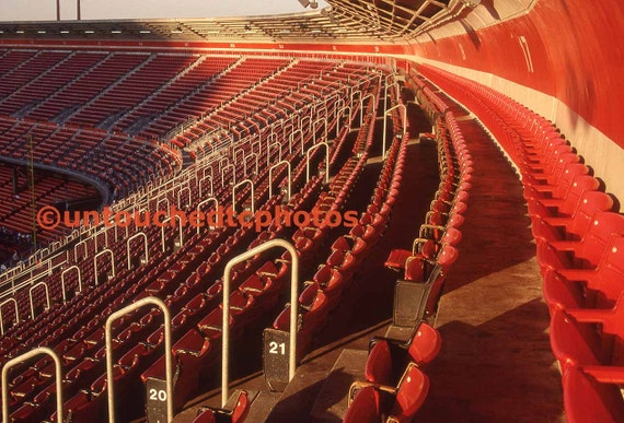 candlestick park red chairs photograph various sizes