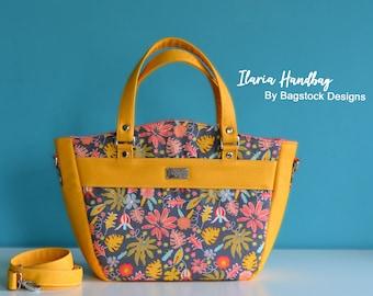 Ilaria Handbag - Bagstock Sewing Pattern, PDF sewing pattern