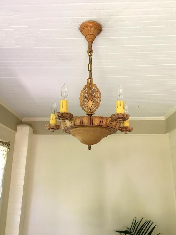 Farmhouse Hanging Light Fixture 1910\'s Heavy Cast Iron | Etsy