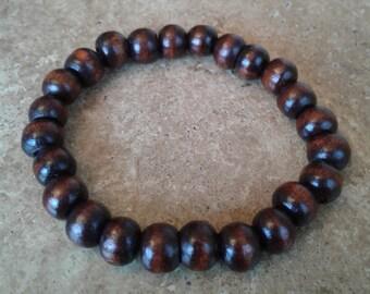 Brown Bracelet - Beaded, Elastic, Boho, Hippie, Gypsy, Colorful, Exclusive, Brazilian