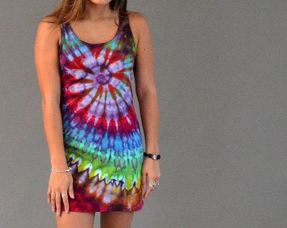 Tank Dress - Rainbow Spiral
