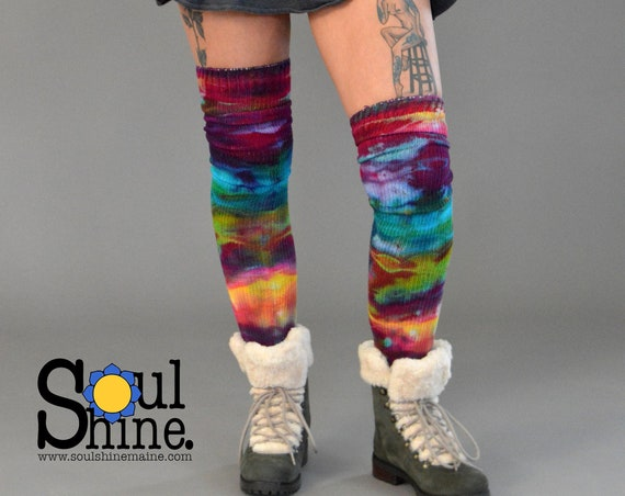 Extra Tall Thigh High Sock in Primary Prism