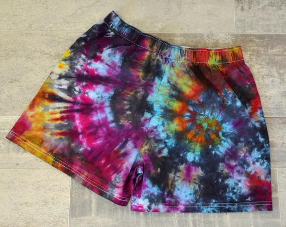 Tie Dye Boxer Shorts - Rainbow Spiral