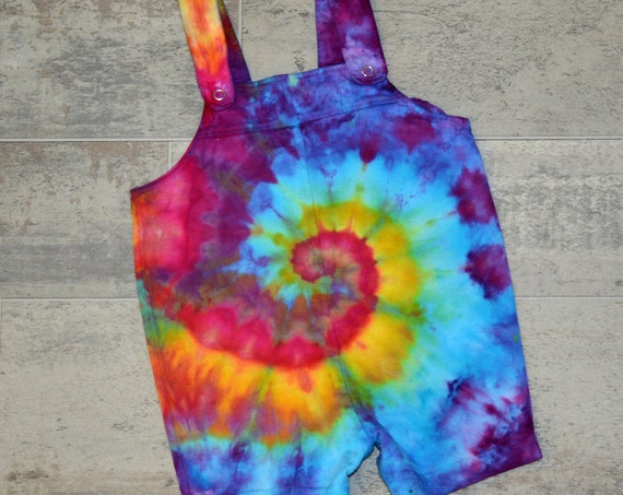 Tie Dye BABY Overalls - 3 Colors to Choose From!