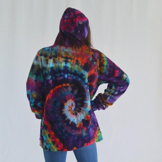 Zipper Hoodie - Rainbow Spiral LARGE
