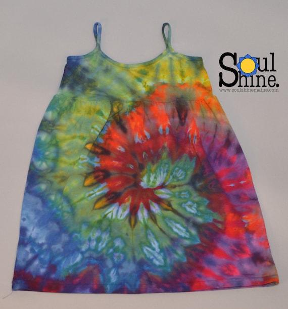 Little Hippie Girls Dress BOLD RAINBOW