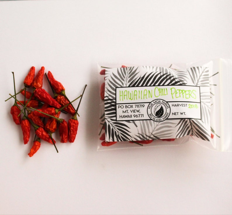 Dried Hawaiian Chili Peppers | Whole Hot Pepper | Herbs & Spices | Made in  Hawaii, USA | 0 5 oz