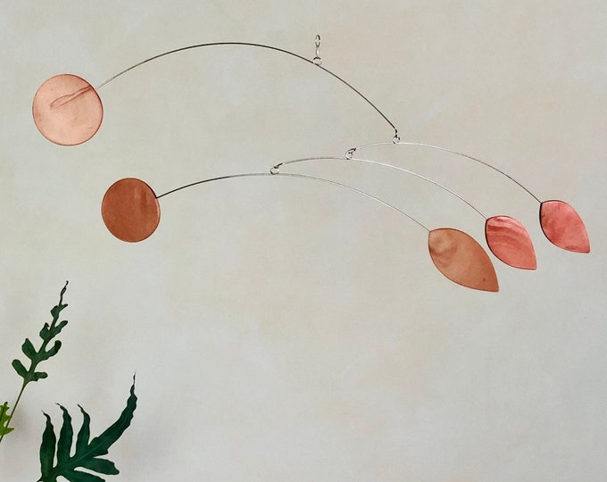 Kinetic mobile, Hanging Mobile, Copper Mobile, Mid Century, Retro Mobile, Art Mobile, Modern Home, Mobile Art, Mobile, Minimalism, Trending