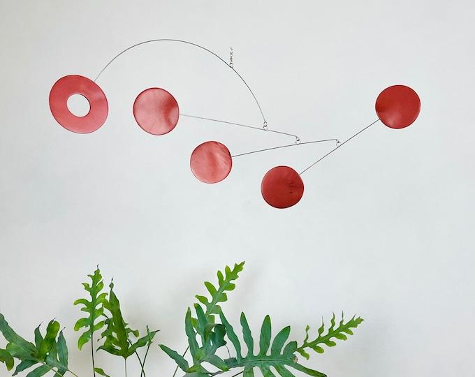 Bronze Hanging Mobile, Kinetic Mobile, Art Mobile, Modern Mobile, Mid Century Modern, Hanging Sculpture, Art Decor, Modern Home, Mobile