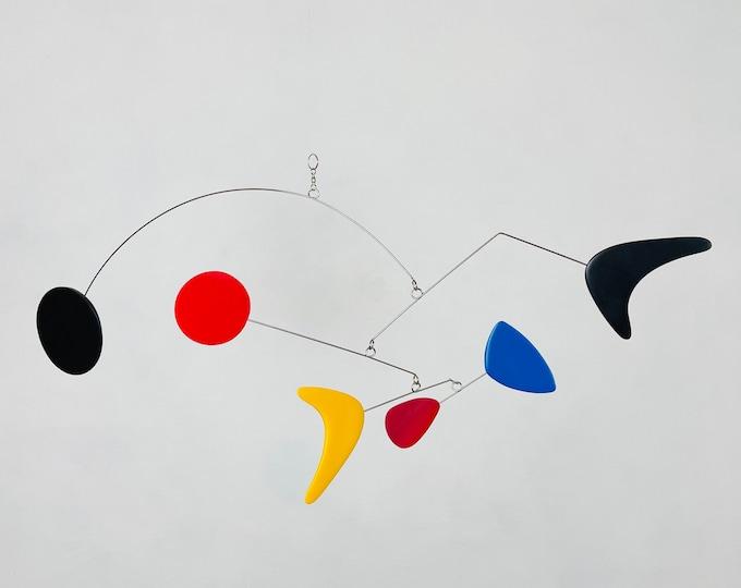 Abstract Art Hanging Mobile, Kinetic Mobile, Art Mobile, Modern Mobile, Mid Century Modern, Hanging Sculpture, Art Decor, Modern Home