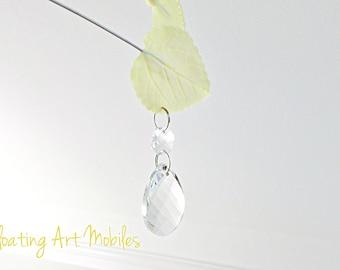 Baby Mobile, Crib Mobile, Nursery Mobile, Hanging mobile, Crystal mobile, Pastel Yellow, Leaf Mobile, Nursery Crib Mobile, Baby Shower, Leaf