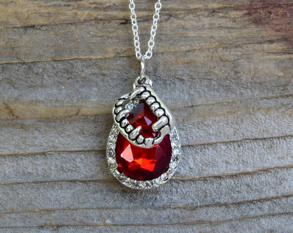 Vampire Bite Necklace, Red Rhinestone Blood Drop, Dracula Necklace, Halloween Necklace, Vampire Necklace, Teeth Fangs Vampire Blood Necklace