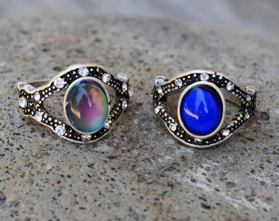 Evil Eye Mood Ring, Eyeball Temperature Color Changing Ring, Spiritual Ring, Evil Eye Protection Jewelry, All Seeing Eye, Talisman, Eye Ring