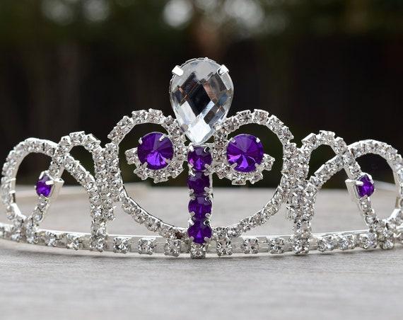 Sofia Tiara, Princess Sofia Costume, Purple Clear Crystal Tiara, The First Gift for Sophia Fan, Flower Girl Tiara, Prom Crown, Sofia Cosplay
