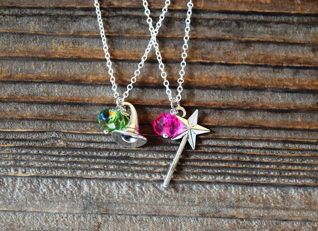 Wicked Musical Best Friends Necklaces Elphaba Or Glinda Necklace
