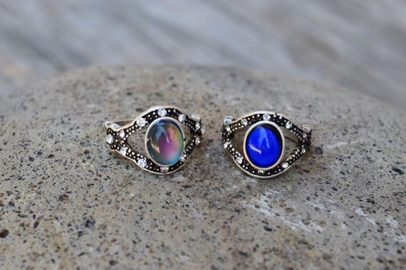 Evil Eye Mood Ring, Eyeball Temperature Color Changing Ring, Spiritual Ring, Evil Eye Protection Jewelry, All Seeing Eye, Talisman, Eye Ring