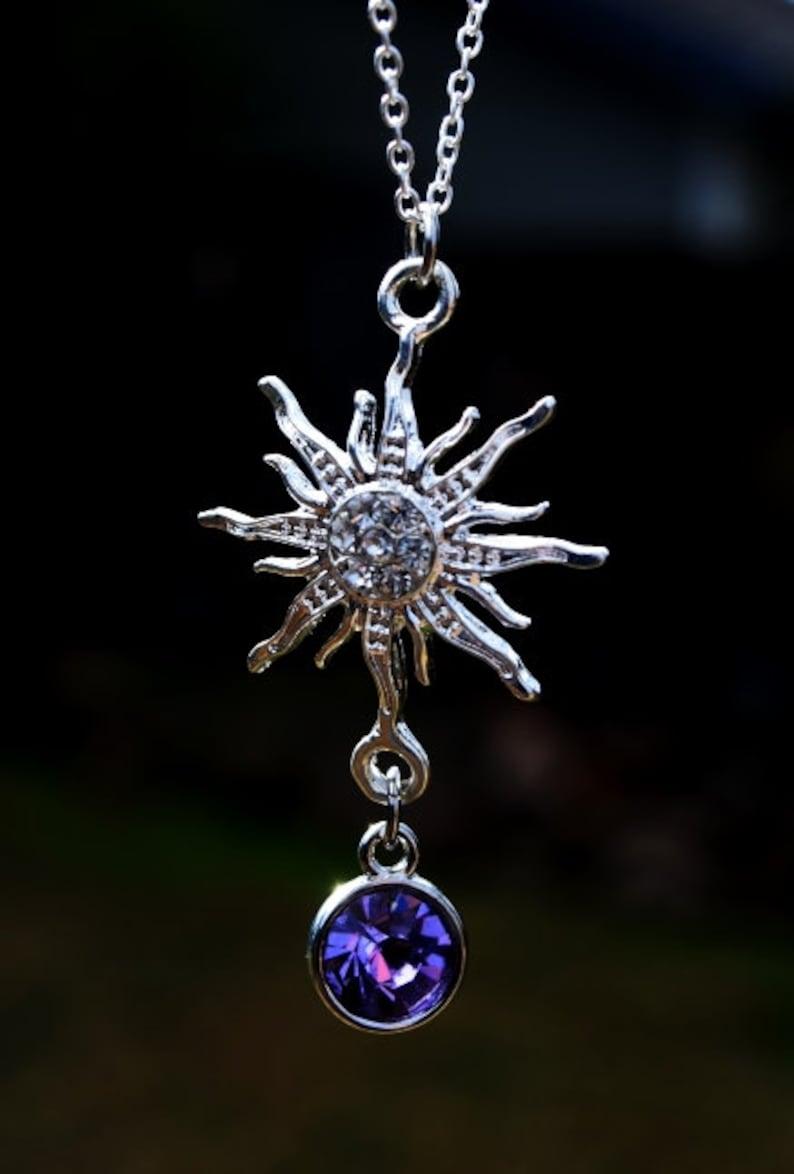 Sparkling Rapunzel Necklace Rhinestone Rapunzel Fairy Tale  d8ac5f54dd83