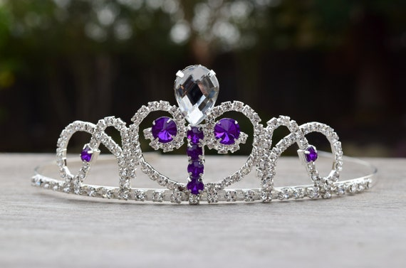 Girl Party Purple Princess Rapunzel Sophie Crystal Costume Crown Head Tiara