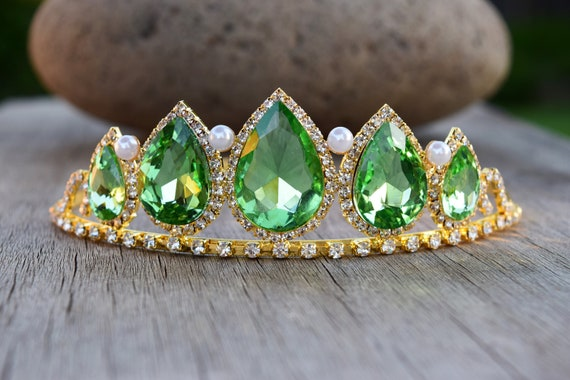 Tiana Tiara, Glow in the Dark Princess and the Frog Crown, Glowing Anna Festival Crown,  Fan Gift for Birthday, Tinkerbell Cosplay Costume