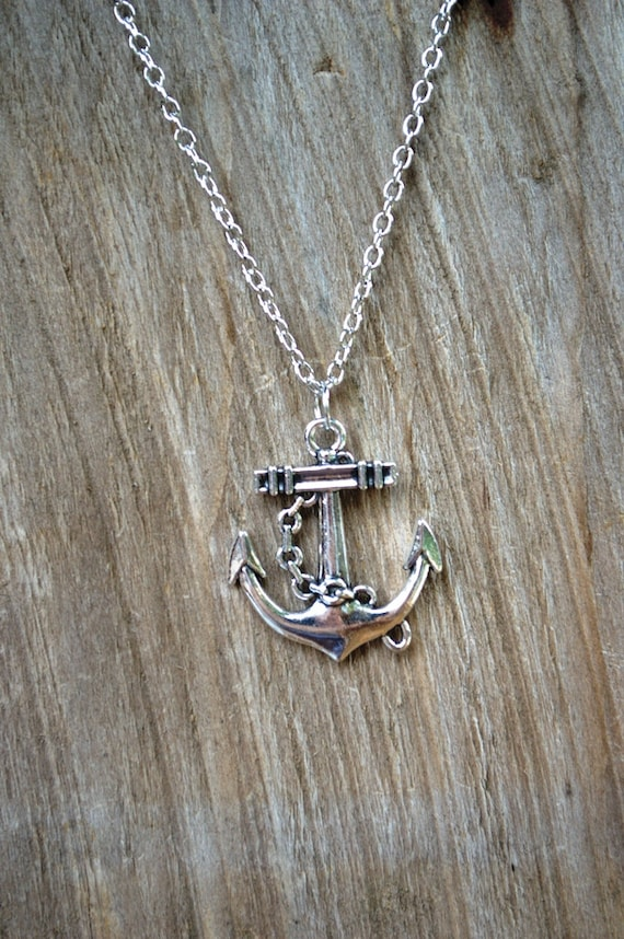 SALE Anchor Necklace, Caption Hook Sailor Necklace, Pirate Anchor Necklace, Unisex Men's Necklace, OUAT Hook Necklace, Anchor Jewelry