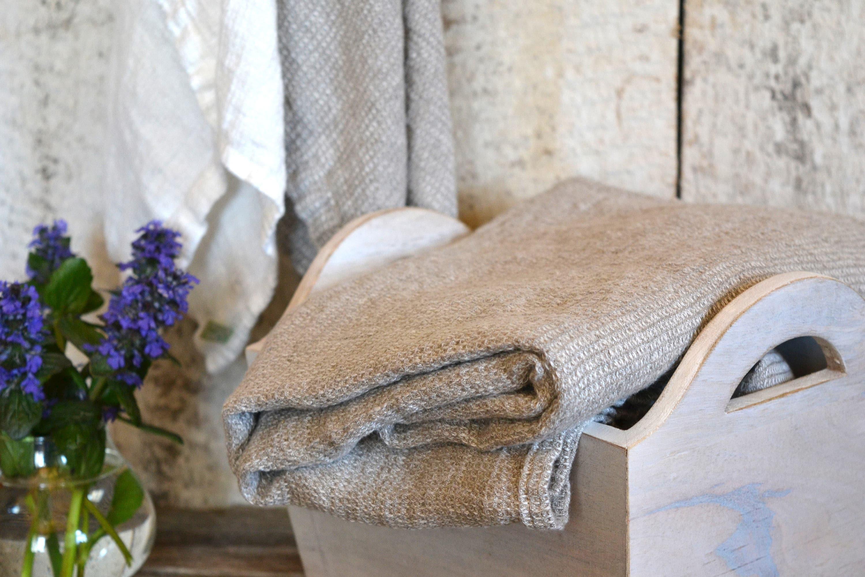 leinen waffel handtuch 100 leinen grau und wei. Black Bedroom Furniture Sets. Home Design Ideas