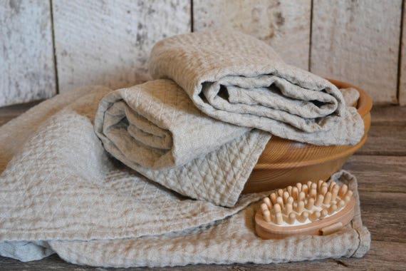nat rliche leinen handtuch weich und sanft wasser etsy. Black Bedroom Furniture Sets. Home Design Ideas