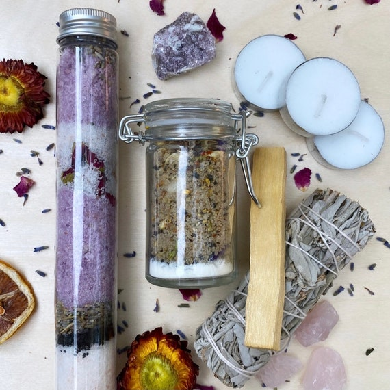 Moon Bath Soak Set, blends for Lunar Phases-NEW MOON (limited time, 2 free bath bombs!)