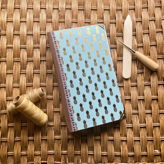 Handcrafted Gold Pineapple Journal